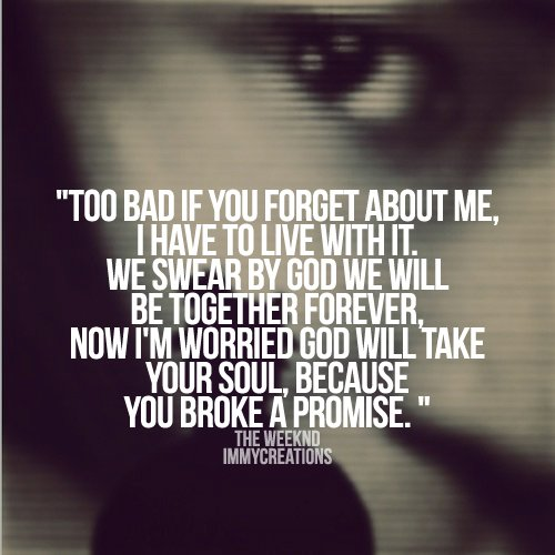 The Weeknd Sad Quotes....