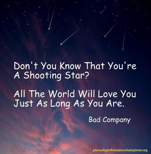 i need a shooting star galaxy quote - photo #11