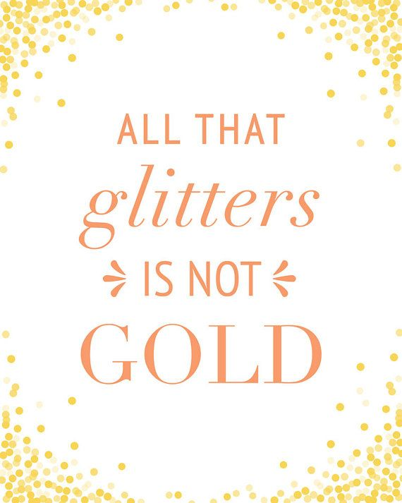 all that glitters are not gold essay