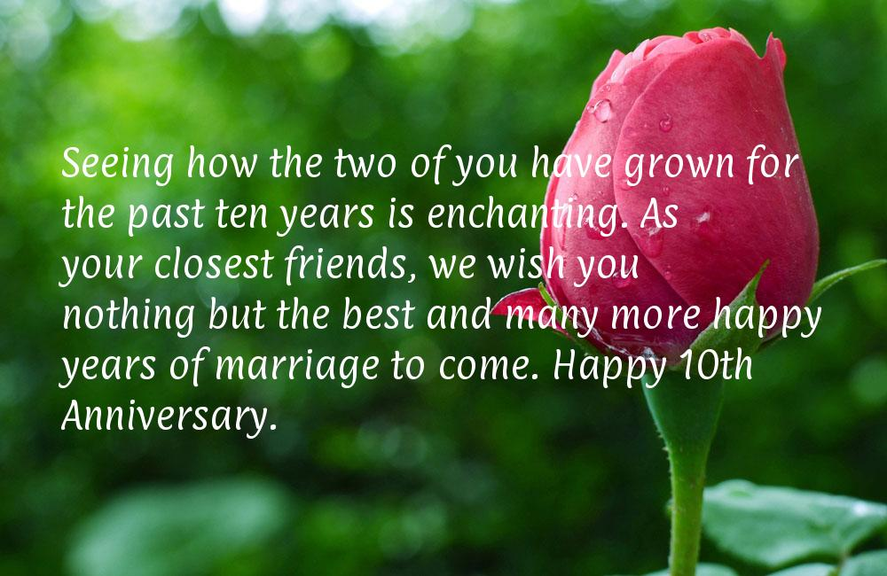 10 Year Wedding Anniversary Quotes Quotesgram