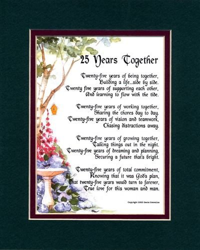 51 Wedding Anniversary Quotes: 25th Anniversary Quotes And Poems. QuotesGram