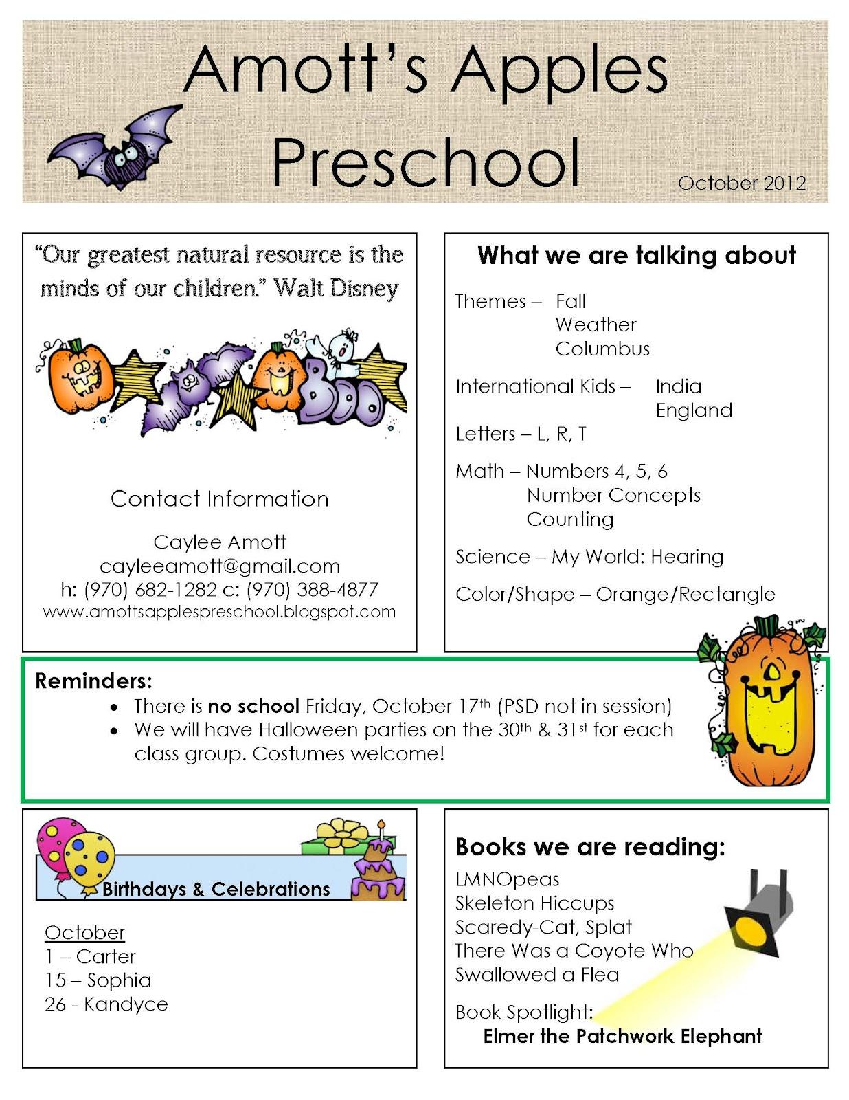 Preschool Newsletter Quotes. QuotesGram