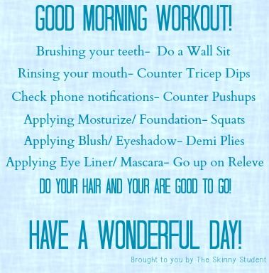 Good Morning Workout Quotes Quotesgram