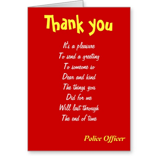 Thank You Police Quotes Quotesgram