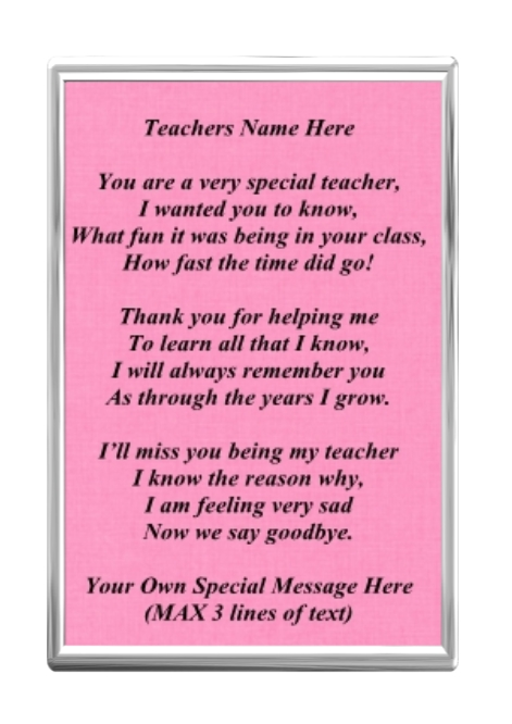 Thank You Teacher Poems Quotes on Child Need Know Kindergarten