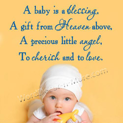 New Baby Blessing Quotes Quotesgram