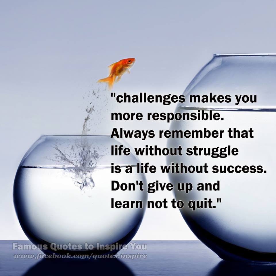 Overcoming Challenges Motivational Quotes. QuotesGram