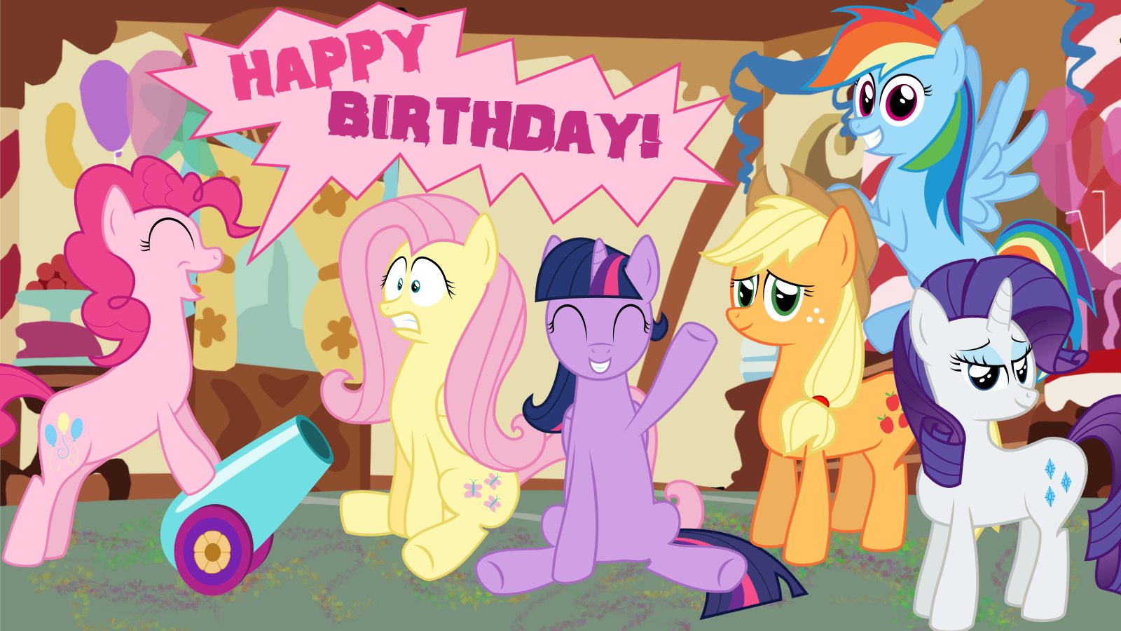 my little pony birthday wallpaper - photo #41