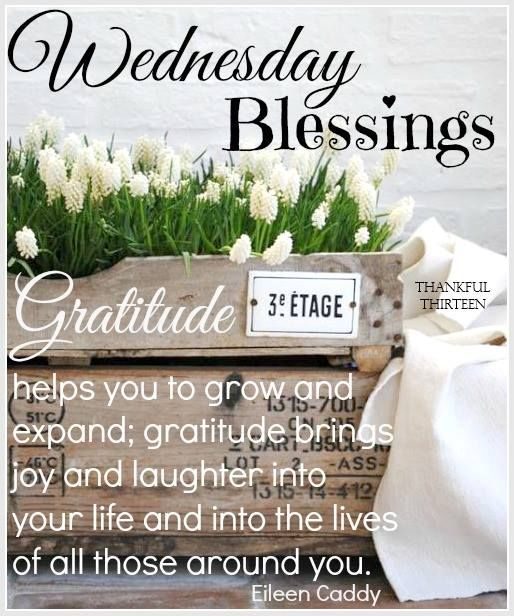 Inspirational Quotes About Positive: Wednesday Blessings Quotes Pictures Facebook. QuotesGram