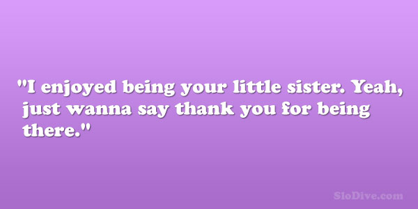 Thank You For Being My Sister Quotes: Quotes About Big Brothers. QuotesGram