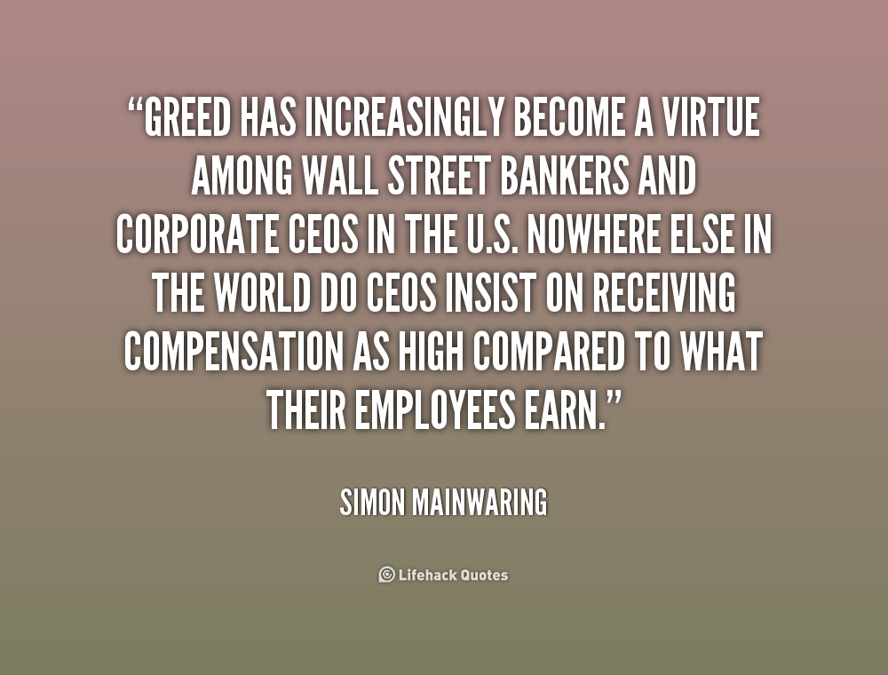 Quotes Words Sayings: Greed Quotes And Sayings. QuotesGram
