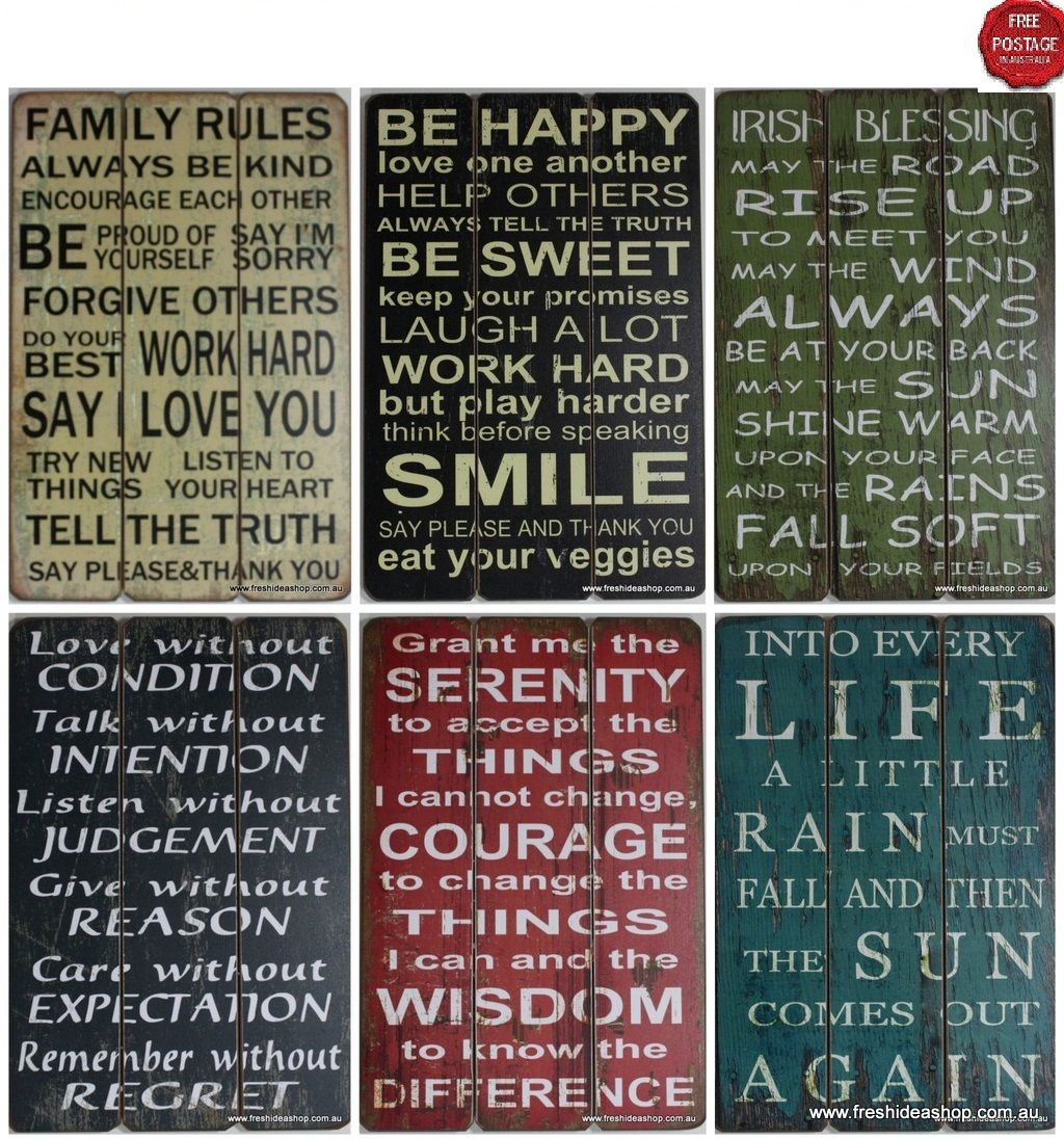 Wooden Wall Plaques With Quotes Quotesgram