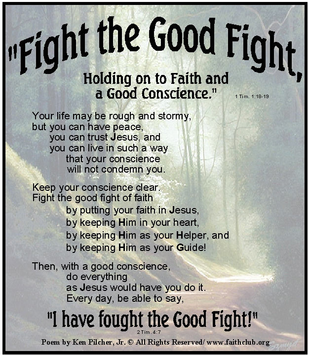 Fighting The Good Fight Quotes: Have Faith In Christ Quotes. QuotesGram