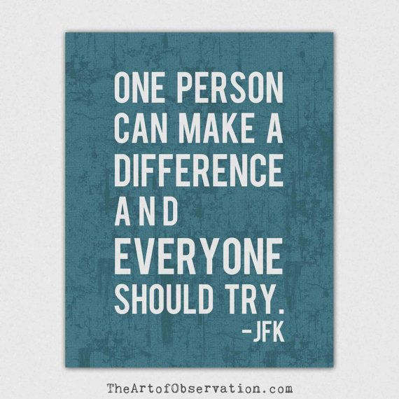 Inspirational Quotes About Making A Difference. QuotesGram