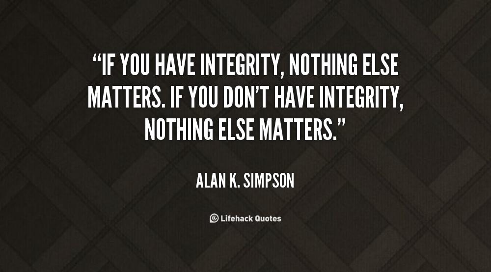 Integrity matters essay