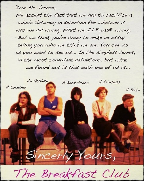 Breakfast club essay at the end of the movie