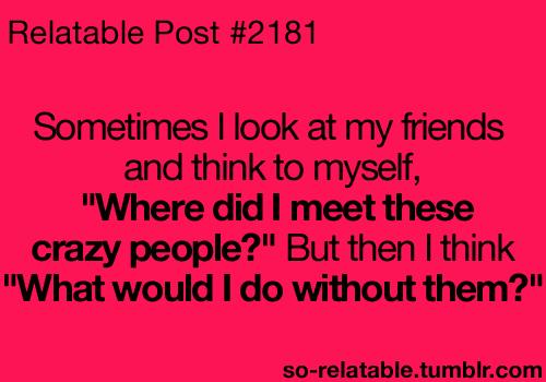 Crazy Quotes About Friendship. QuotesGram