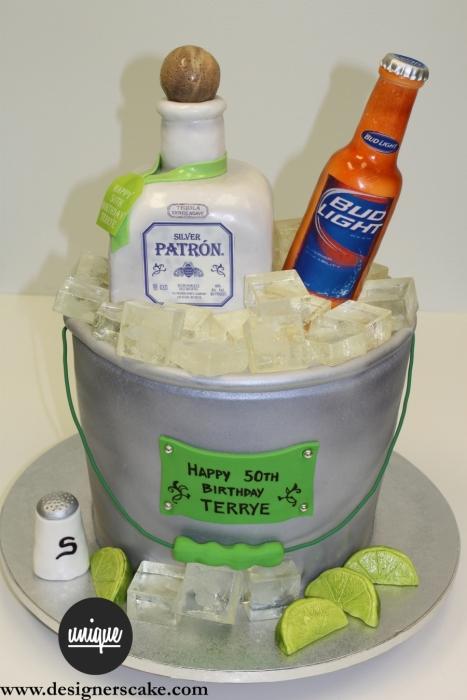 Patron Birthday Cake