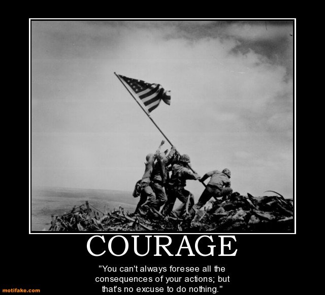 Inspirational Courage Quotes: Motivational Military Quotes On Courage. QuotesGram
