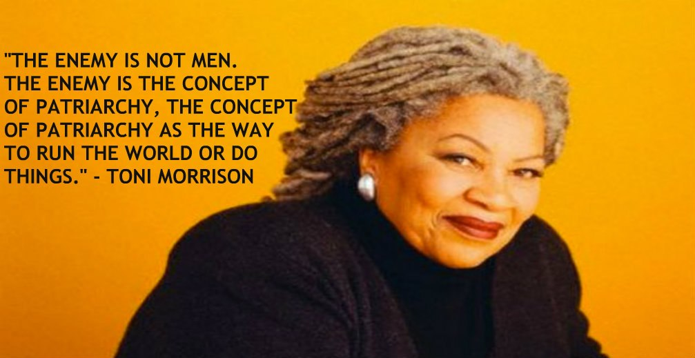 womanism in the works of toni morrison Toni morrison is born in ohio, united states of america in 1931 she is a very  well-known  craftsmanship of early works like the bluest eyes and sula with  the magical realism  states ''for black women, their concern with feminism is  usually.