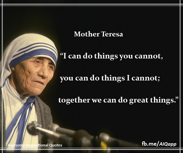 Sister Teresa Quotes: Mother Teresa Quotes On L. QuotesGram