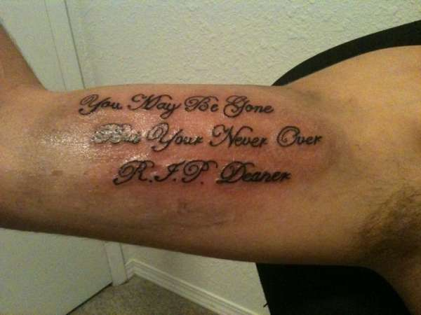Rip Tattoo Quotes: Rest In Peace Quotes Tattoos. QuotesGram