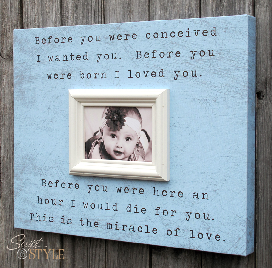 Baby Quotes With Picture Frames Quotesgram