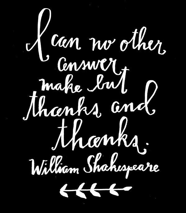 Quotes To Say Thanks: Shakespeare Quotes On Thanks. QuotesGram
