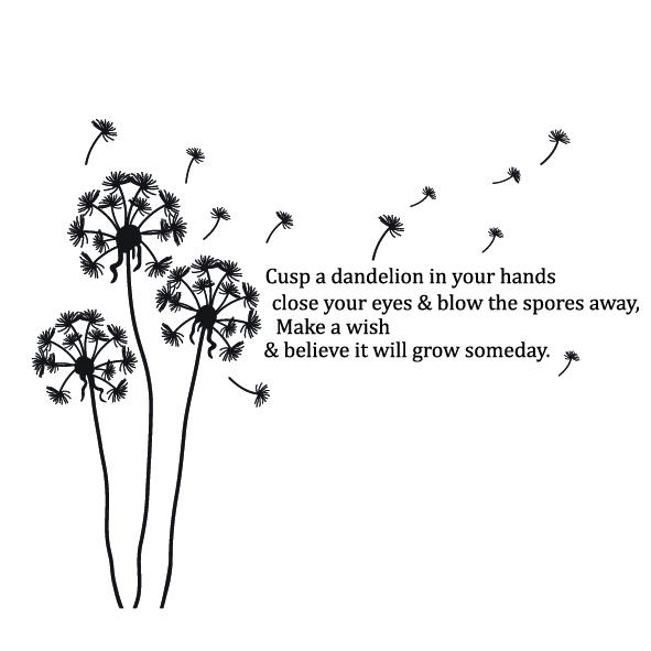 Blowing Dandelion Quotes Quotesgram