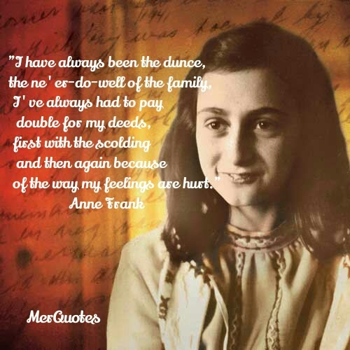 Anne Frank Diary Quotes Quotesgram