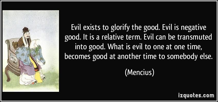 Essay on good vs evil