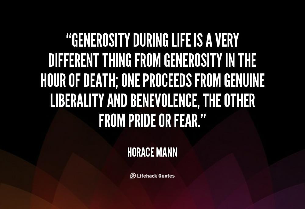 Quotes About Generosity. QuotesGram