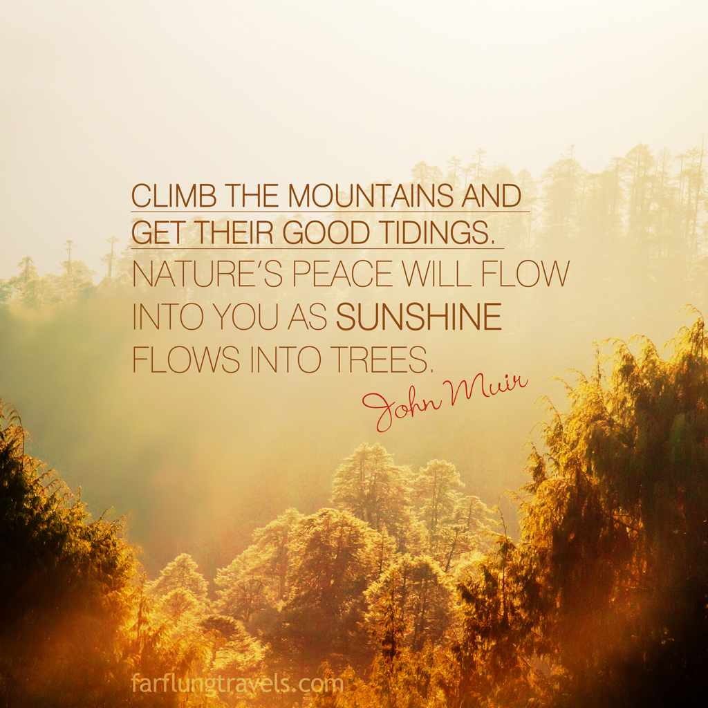 Design poster urging mountaineers preserve pristine glory mountainsides - Follow Us