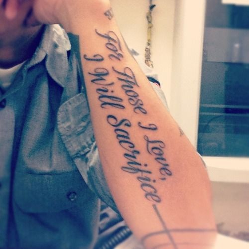 Couple Of Mens Arm Quote Tattoos: Anxiety Tattoo Quotes. QuotesGram