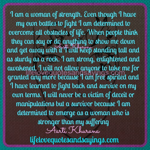Im A Strong Woman Quotes