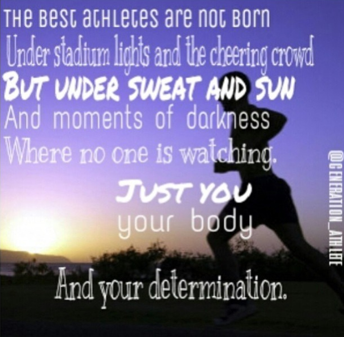 Inspirational Quotes On Pinterest: Athlete Quotes Pinterest. QuotesGram