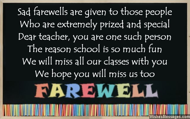 goodbye quotes for teachers quotesgram
