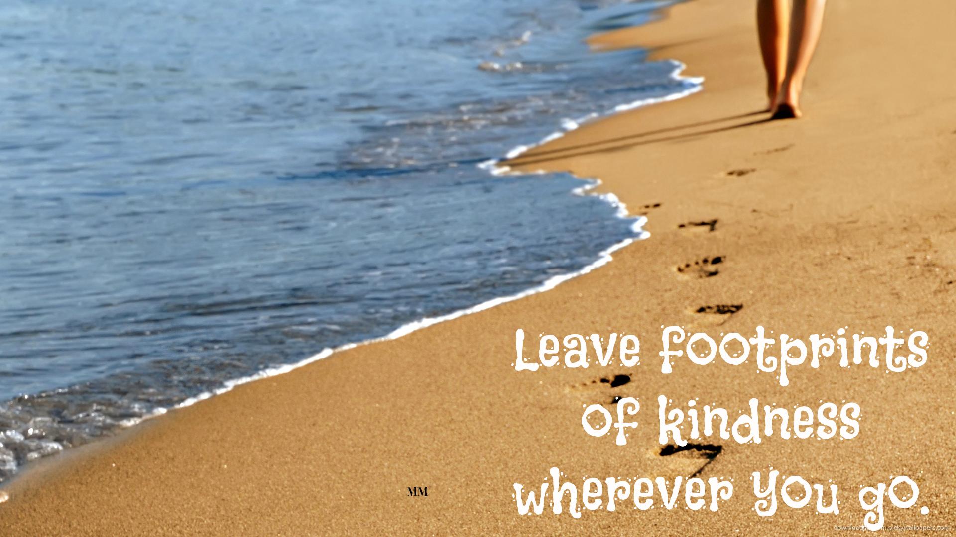 Beach Quotes Wallpaper: Footprint Beach Quotes. QuotesGram