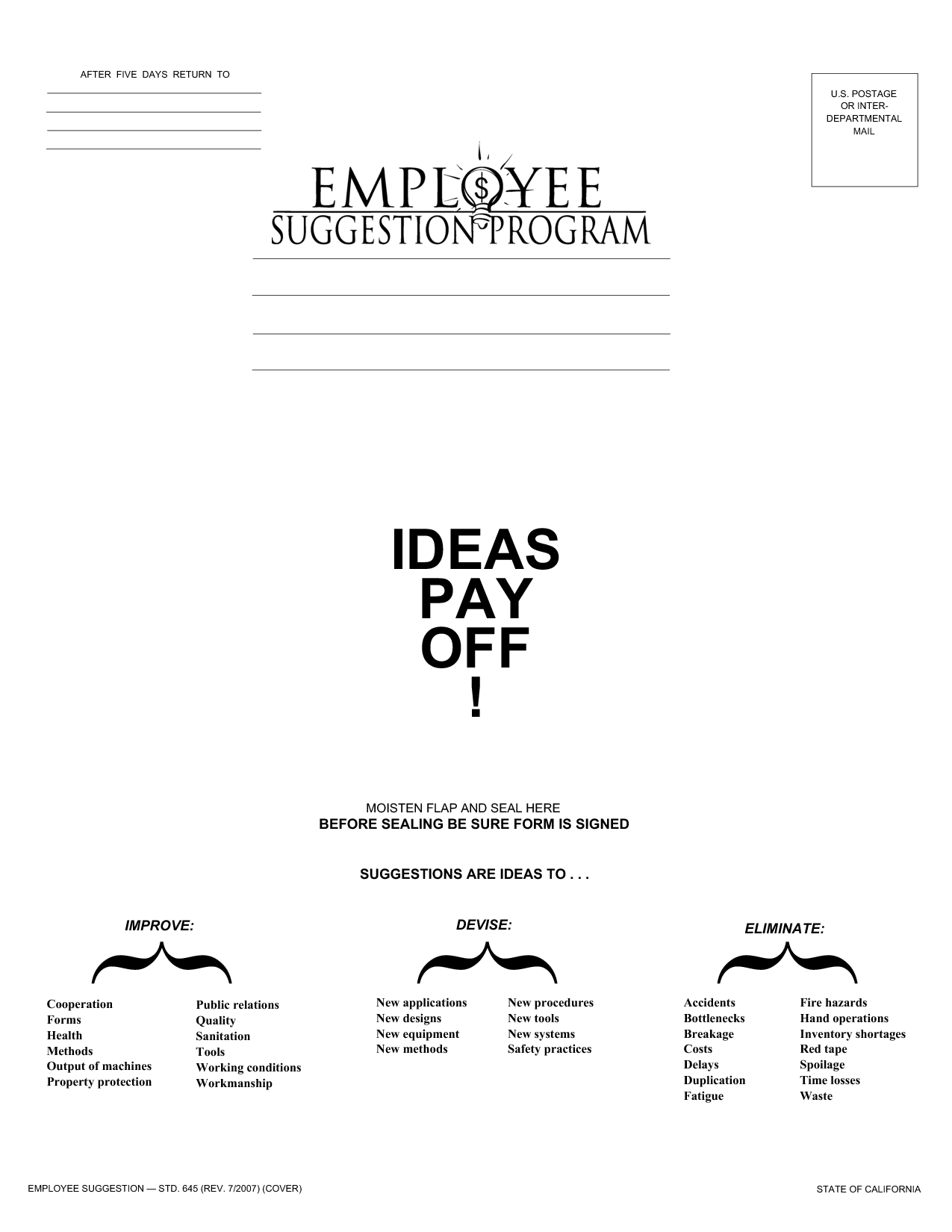 Employee Suggestion Quotes QuotesGram – Employee Suggestion Form