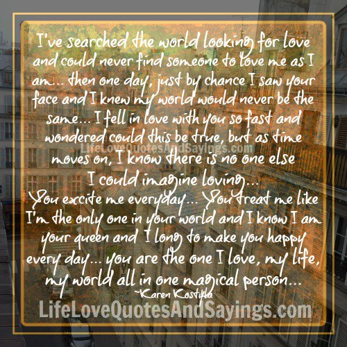 Quotes About Finding The One You Love: Finding The One Quotes. QuotesGram