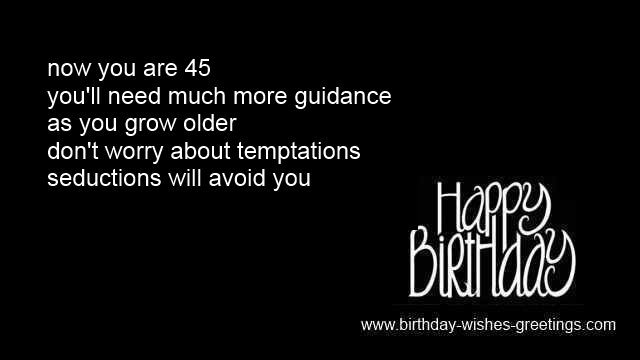Quotes About Turning 29: Turning 45 Birthday Quotes. QuotesGram
