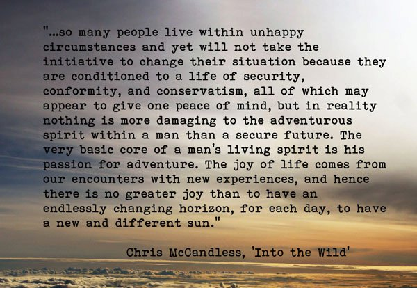 an analysis of beautiful blueberries in the journal by christopher mccandless Into the wild study guide contains a into the wild quotes and analysis thus implying that into the wild itself cannot defend mccandless when it comes to.