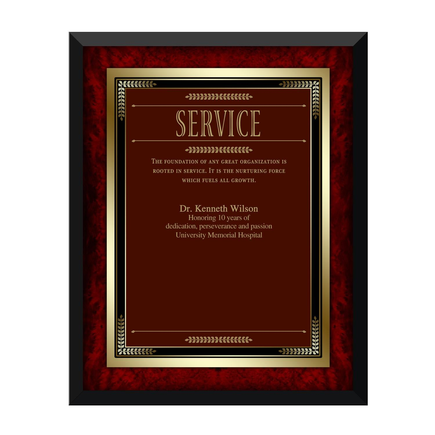 Quotes For Service Award Plaque Quotesgram