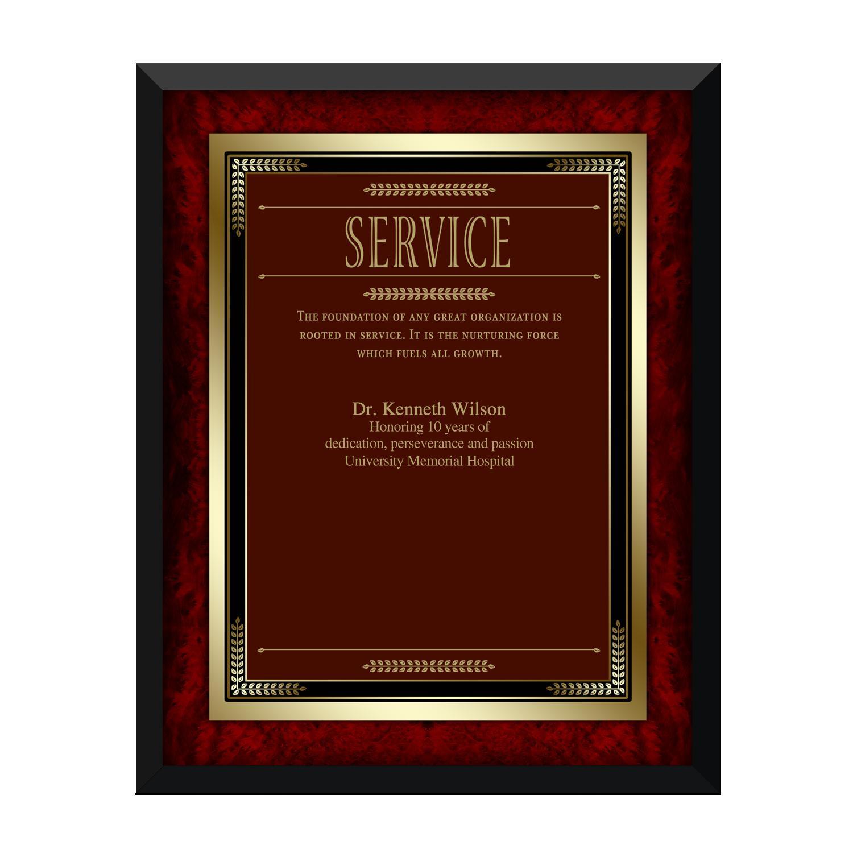 Quotes For Service Award Plaque. QuotesGram