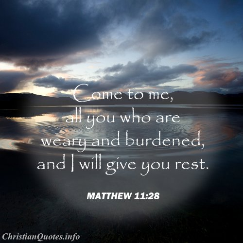 Christian Quotes About Rest Quotesgram