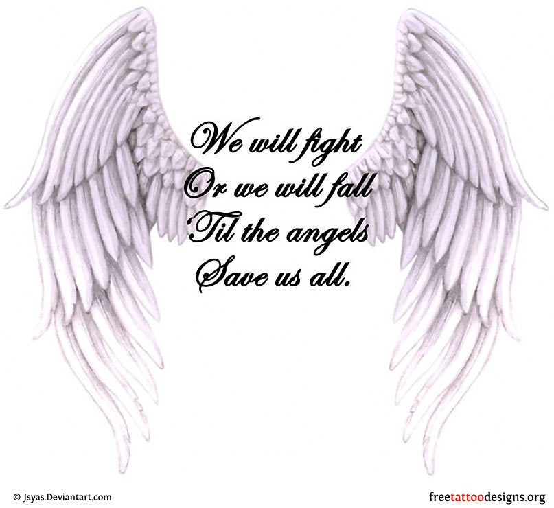 Memorial Tattoo Heart With Wings And Quote: Angel Wings Quotes. QuotesGram