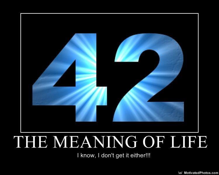42  ответ на главный вопрос жизни вселенной