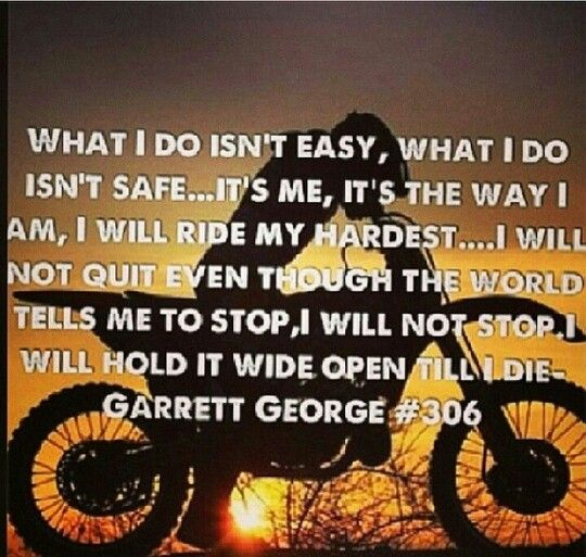 Dirt Bike Quotes: Mx Sayings And Quotes. QuotesGram