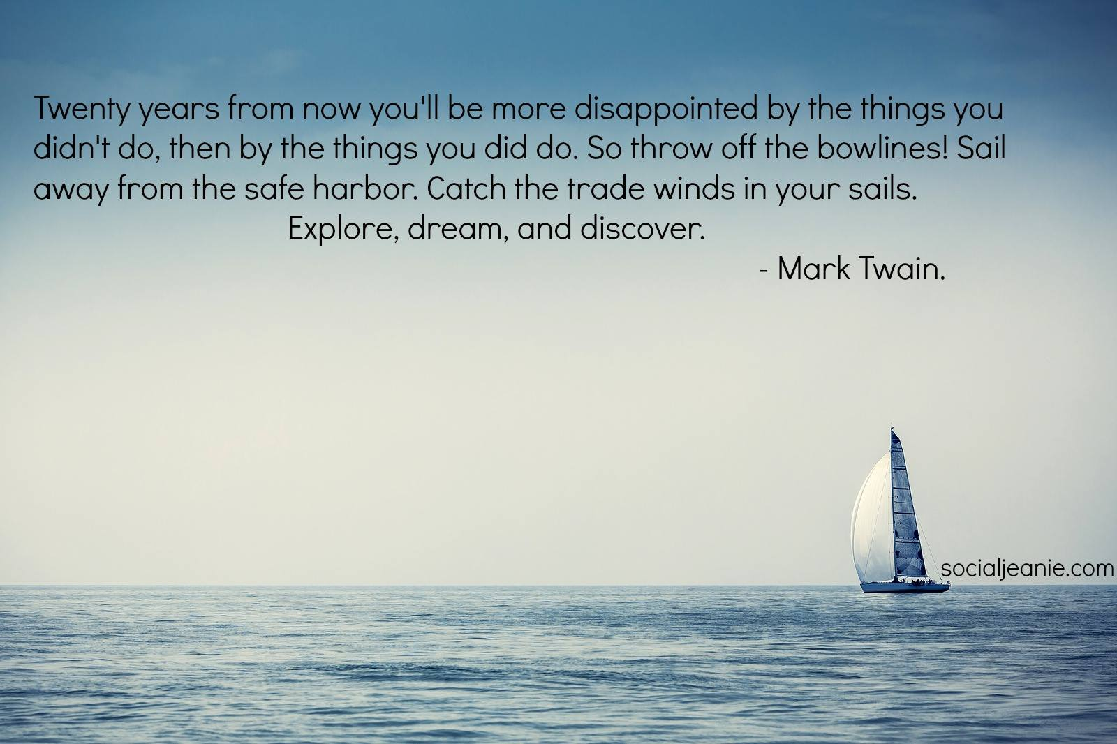 Cool Sailing Quotes Quotesgram: Sail Mark Twain Quotes. QuotesGram
