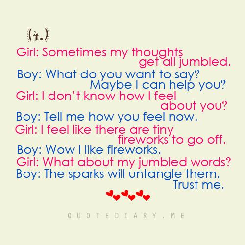 Cute Boy Girl Conversation Quotes. QuotesGram